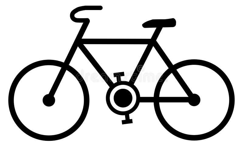 ícone Simples Da Bicicleta Linhas Pretas Desenho Da Bicicleta No Backgroun Branco Ilustração Do Vetor Ilustração De Ciclo Esporte 124595370