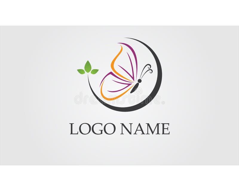 Ícone simples da borboleta, colorido conceptual logo Ilustração do vetor ilustração do vetor