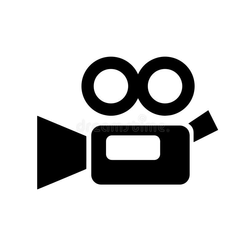 Ícone simples da câmara de vídeo ilustração do vetor