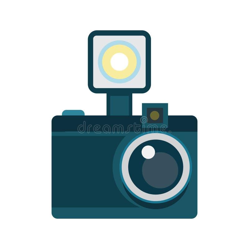 Ícone simples da câmera ilustração do vetor