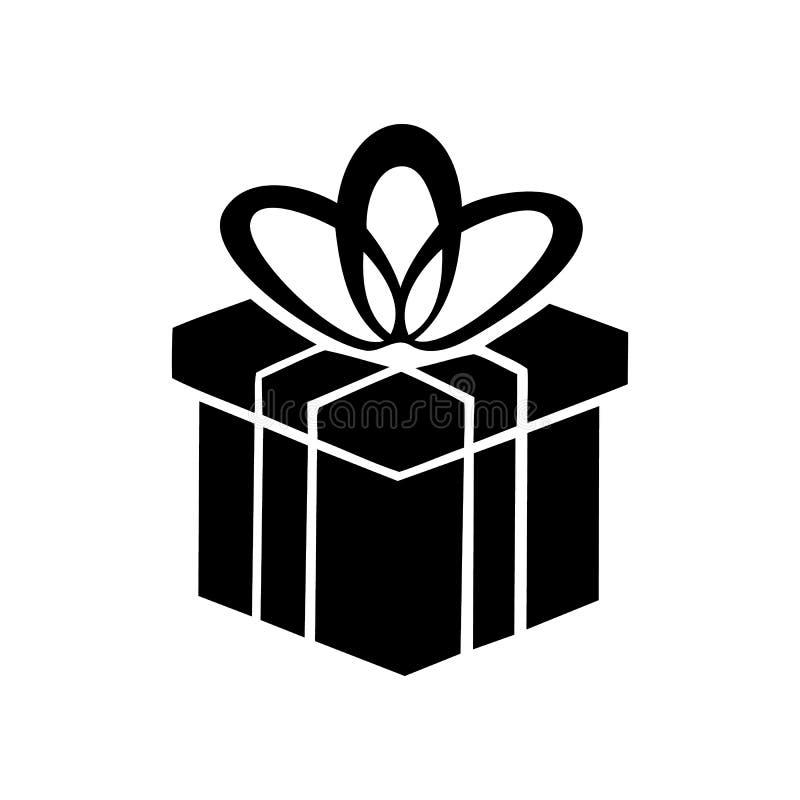 Ícone simples da caixa de presente ilustração do vetor