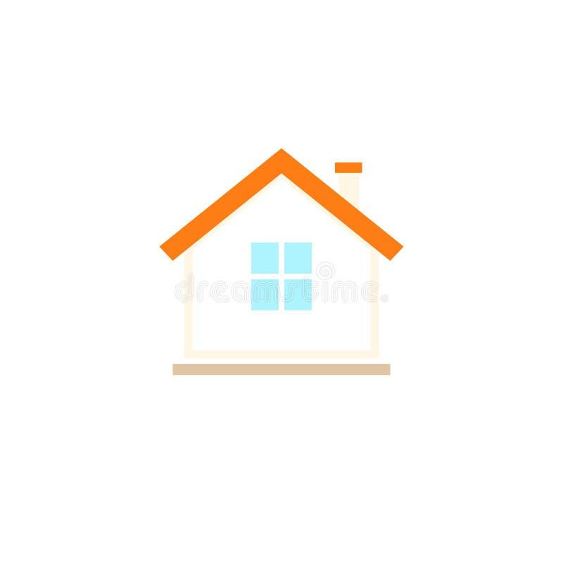 Ícone simples da casa ilustração stock