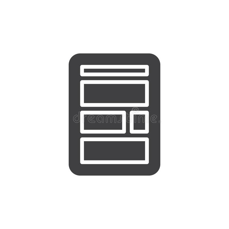 Ícone simples da disposição da site ilustração do vetor