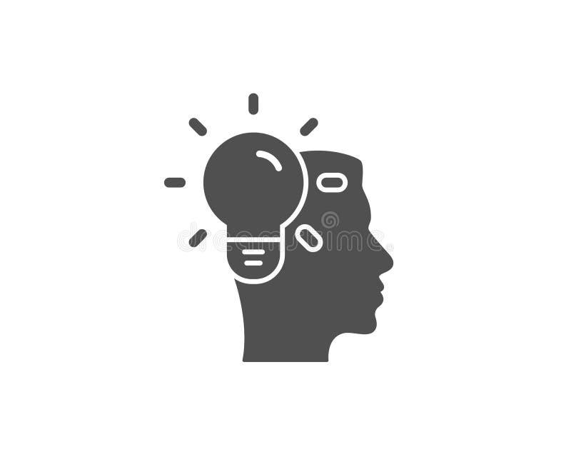 Ícone simples da ideia do negócio Sinal da ampola ilustração stock