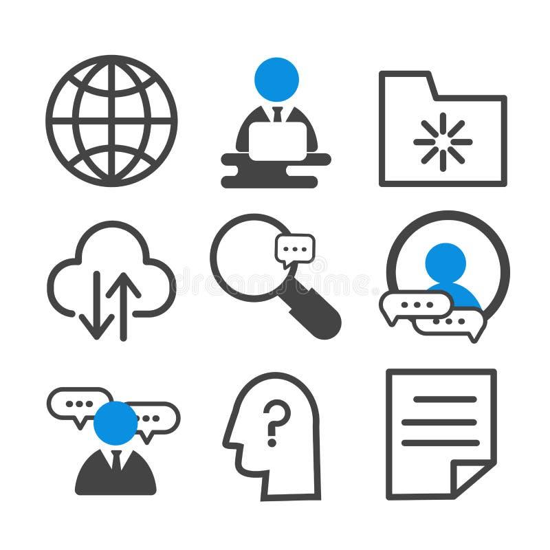 Ícone simples da tecnologia da informação isolado no fundo branco ilustração stock
