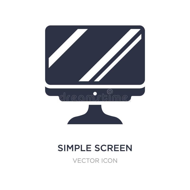 ícone simples da tela no fundo branco Ilustração simples do elemento do conceito da tecnologia ilustração do vetor