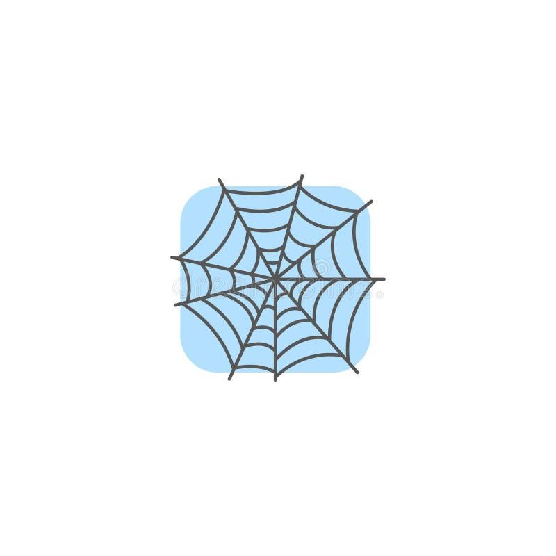 Ícone simples da Web de aranha do quadrado liso simples da arte do vetor ilustração stock