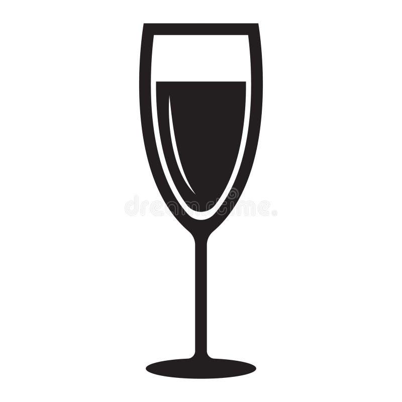?cone simples de vidro de Champagne ilustração do vetor