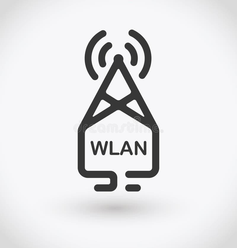 Ícone simples de Wi-Fi do computador no fundo branco Vetor simples de Wi-Fi do computador EPS10 ilustração royalty free