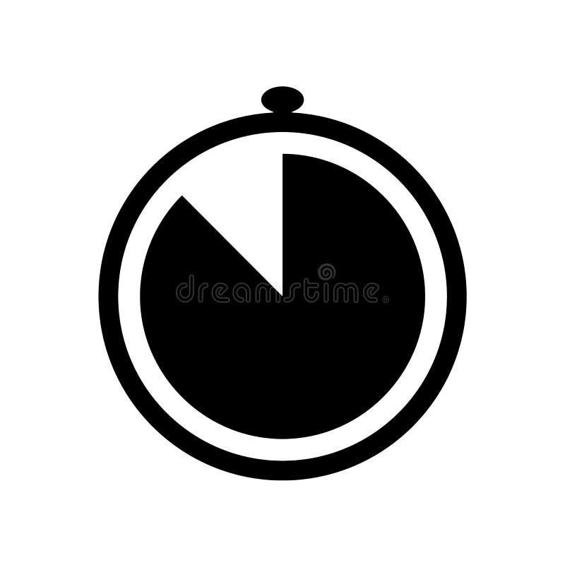 Ícone simples do cronômetro ilustração stock