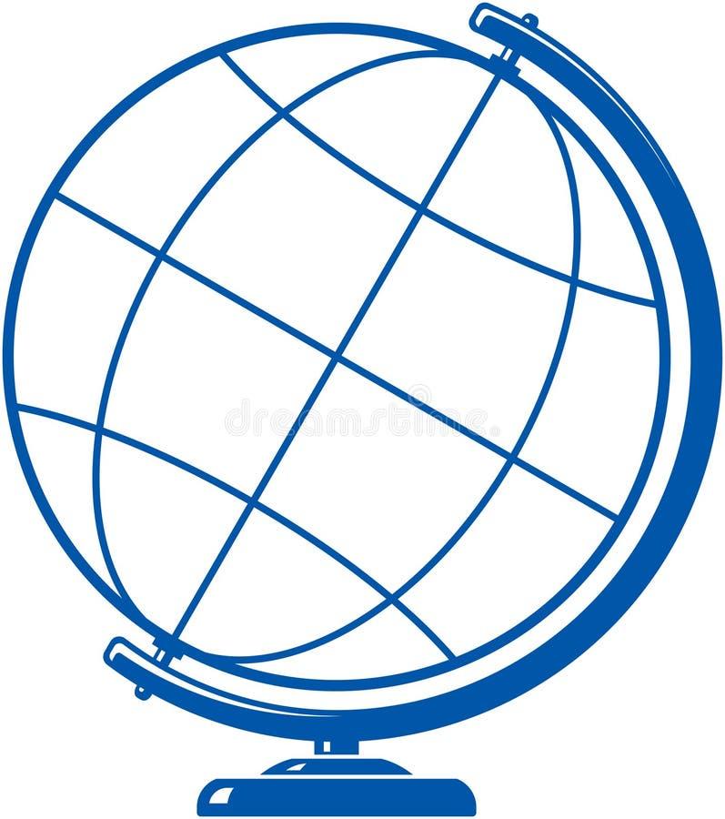 Ícone simples do globo ilustração royalty free