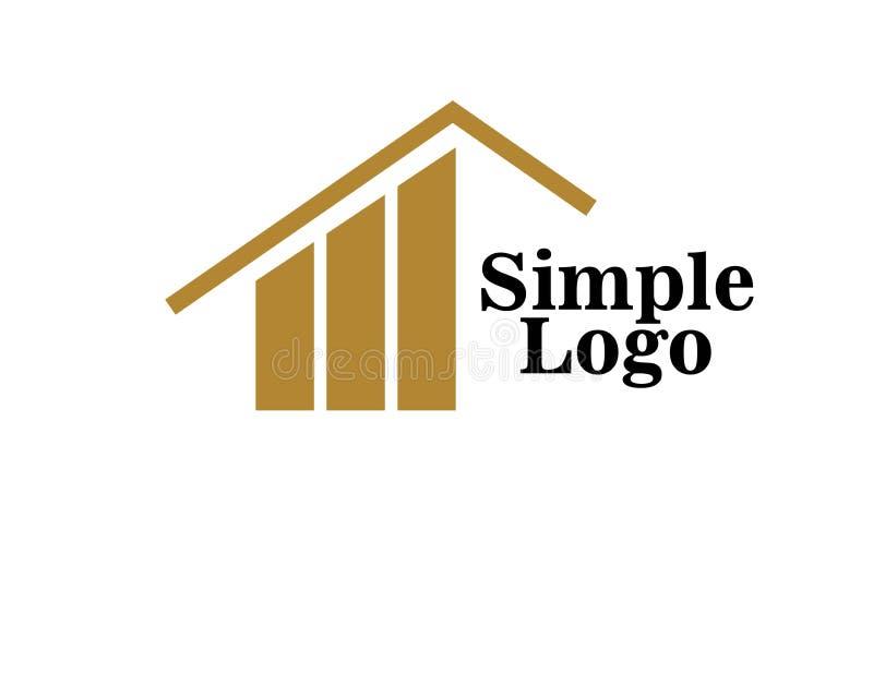 ?cone simples do logotipo da casa para a empresa ilustração do vetor