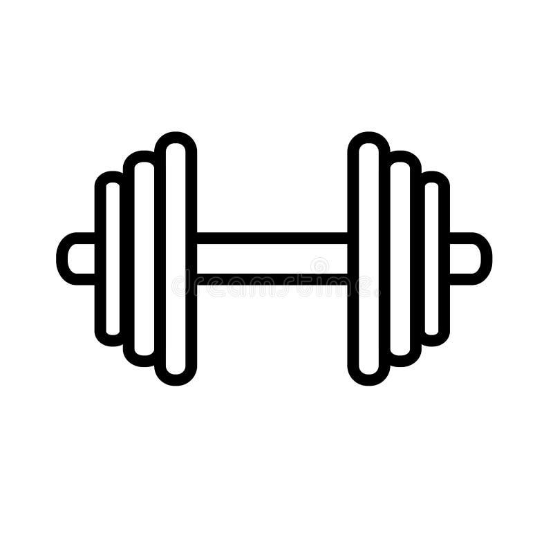 Ícone simples do peso, isolado no branco ilustração stock