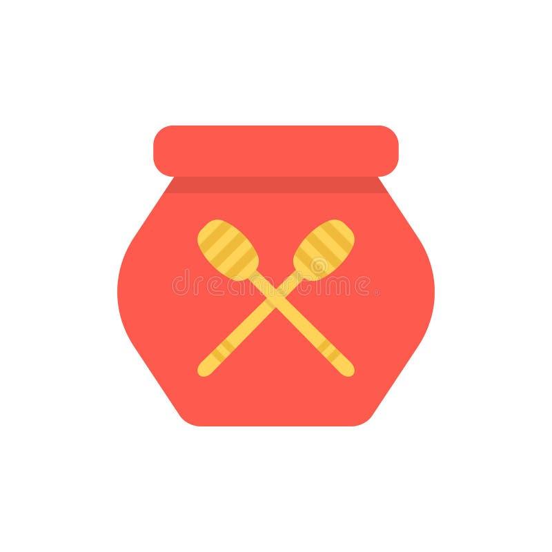 Ícone simples do potenciômetro vermelho do mel ilustração royalty free