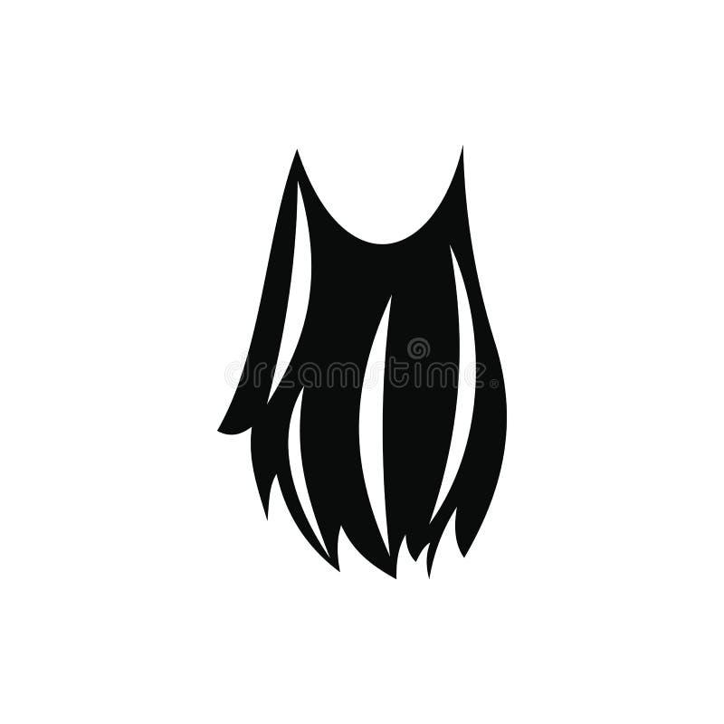 Ícone simples do preto da barba do duende ilustração royalty free