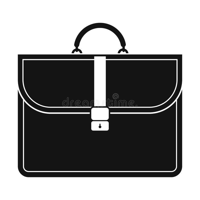 Ícone simples do preto da pasta do negócio de Brown ilustração stock