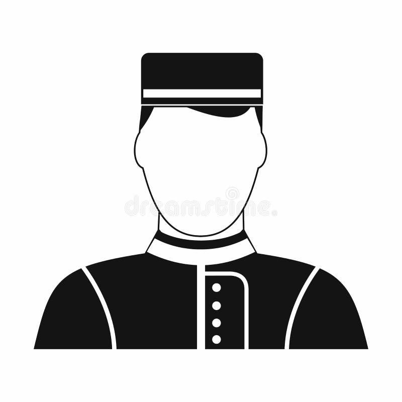 Ícone simples do preto do pregoeiro público do hotel ilustração do vetor