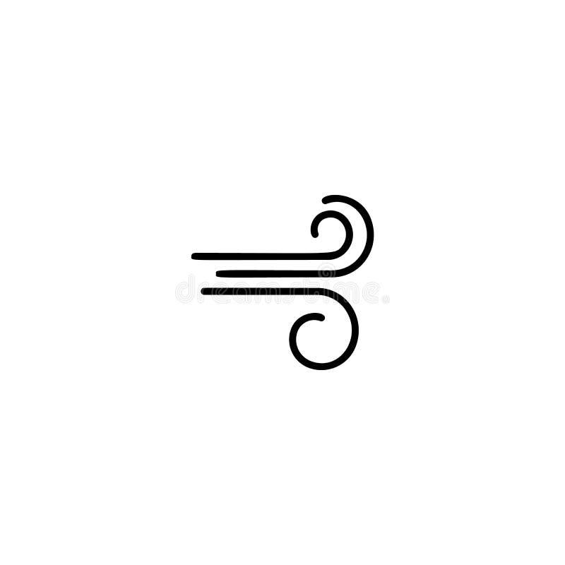 Ícone simples do vento ilustração do vetor