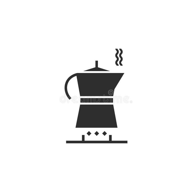 Ícone simples pelo tempo clássico do café Moka, café, gás ilustração stock