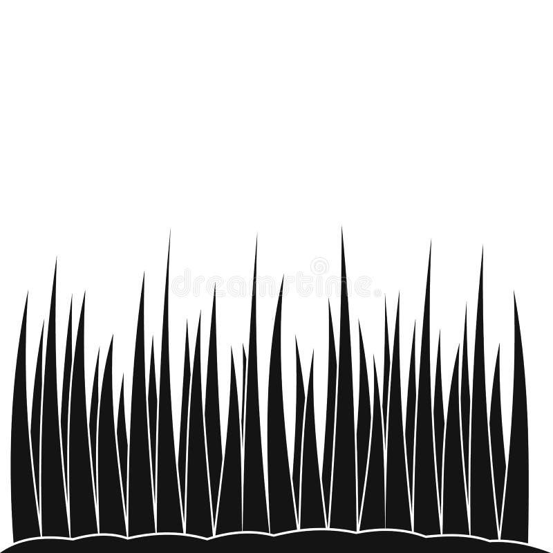 Ícone simples preto crescente da grama ilustração do vetor