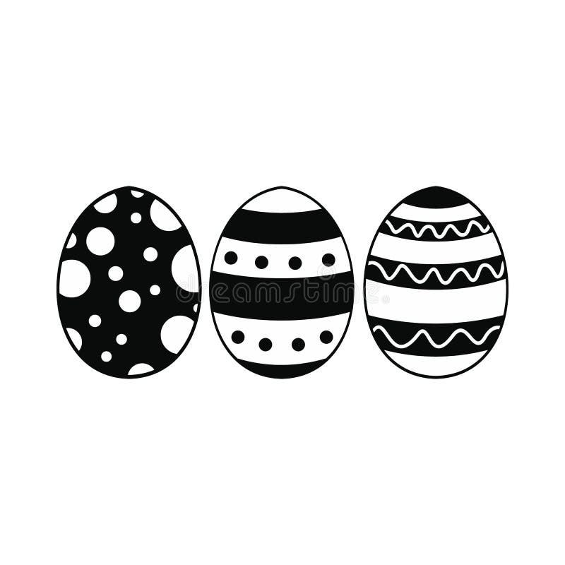 Ícone simples preto dos ovos da páscoa ilustração royalty free