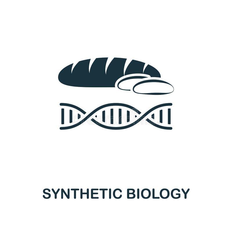 Ícone sintético da biologia Projeto superior do estilo da coleção futura dos ícones da tecnologia Biologia sintética perfeita do  ilustração stock
