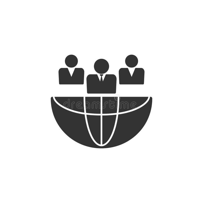 Ícone social da rede, ilustração da rede dos povos Vetor, EPS 10 ilustração do vetor