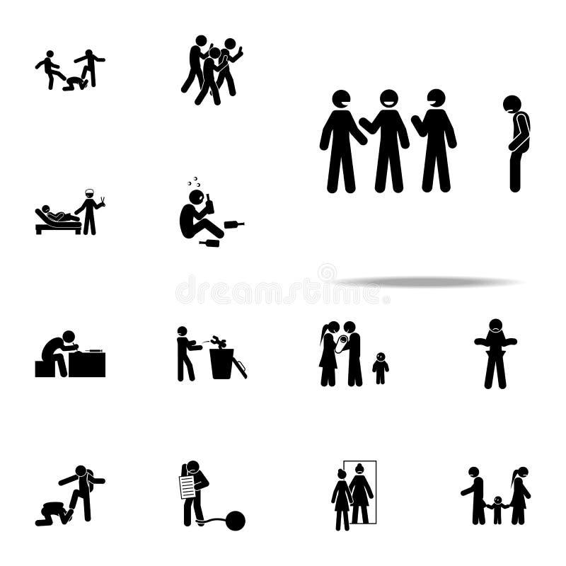ícone social de uma comunicação Dos ícones sociais das edições da juventude grupo universal para a Web e o móbil ilustração royalty free