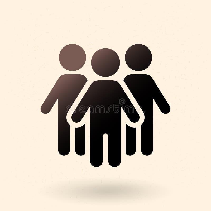 Ícone social do vetor - grupo de pessoas ilustração stock
