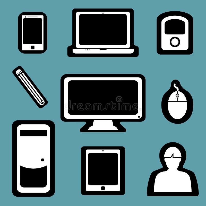 Ícone social dos dispositivos ilustração stock