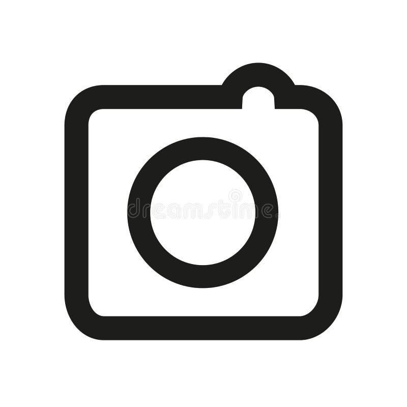 Ícone social dos meios, ícones da câmera da foto - estoque ilustração stock