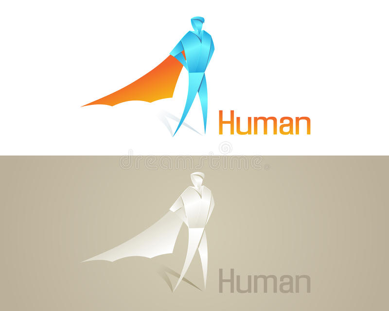 Ícone Social Humano De Origami Foto de Stock Royalty Free