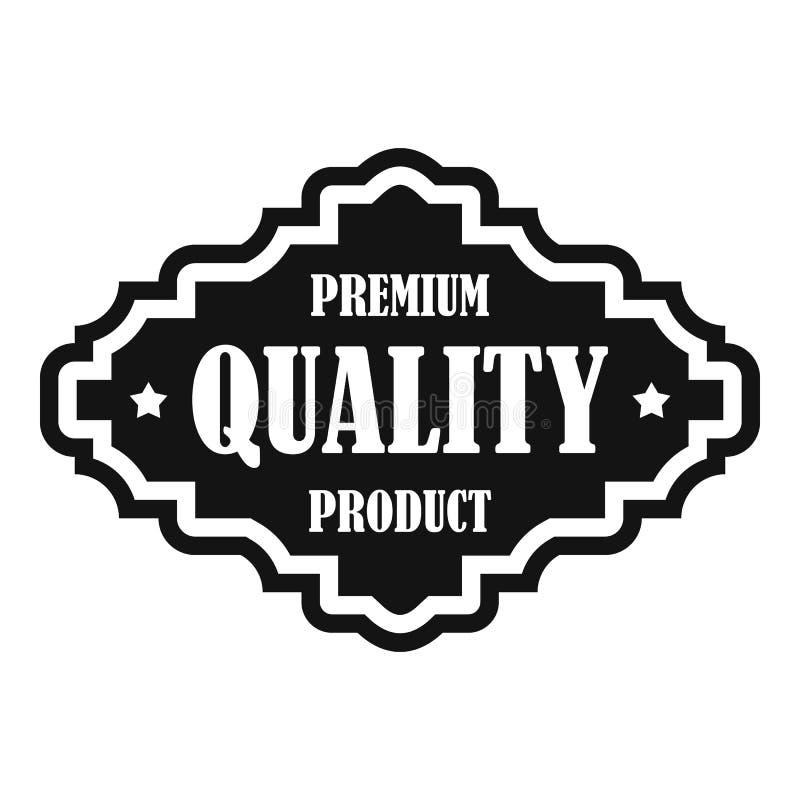Ícone superior da etiqueta do produto de qualidade, estilo simples ilustração do vetor