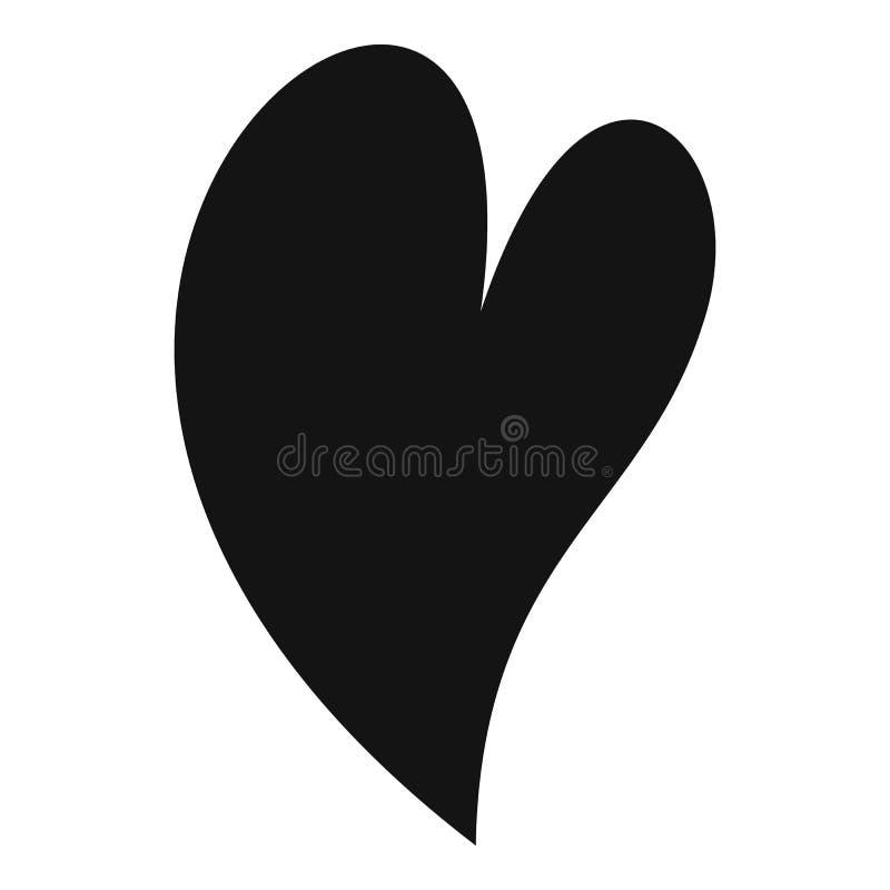 Ícone surdo do coração, estilo simples ilustração stock