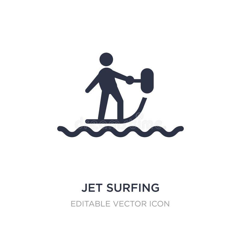 ícone surfando do jato no fundo branco Ilustração simples do elemento do conceito dos esportes ilustração do vetor