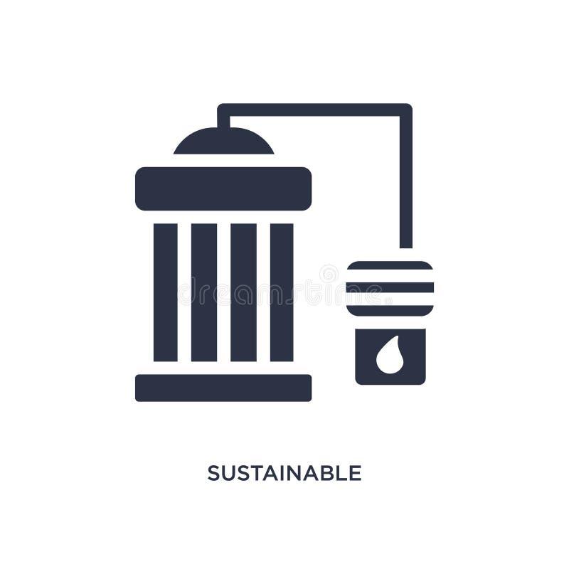 ícone sustentável da fábrica no fundo branco Ilustração simples do elemento do conceito da ecologia ilustração do vetor