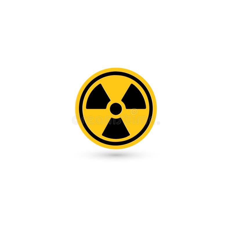 Ícone tóxico do vetor Pictograma da radiação Símbolo de advertência do Biohazard Logotipo químico isolado simples ilustração do vetor