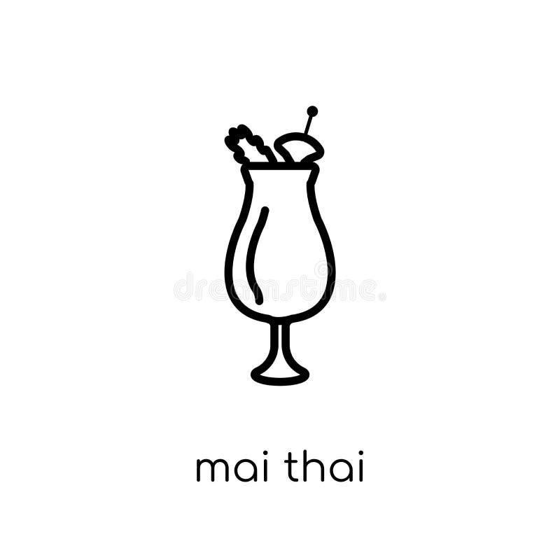 Ícone tailandês do MAI da coleção das bebidas ilustração royalty free