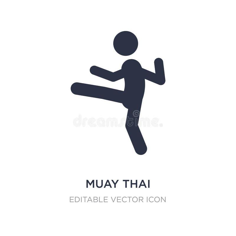 ícone tailandês muay no fundo branco Ilustração simples do elemento do conceito variado ilustração do vetor