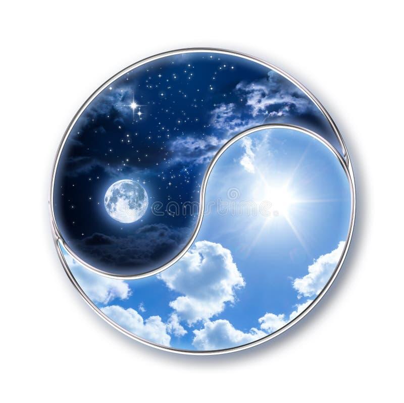 Ícone tao - lua e sol ilustração royalty free