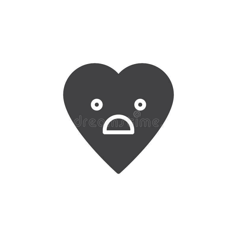 Ícone temível do vetor do emoticon da cara ilustração royalty free