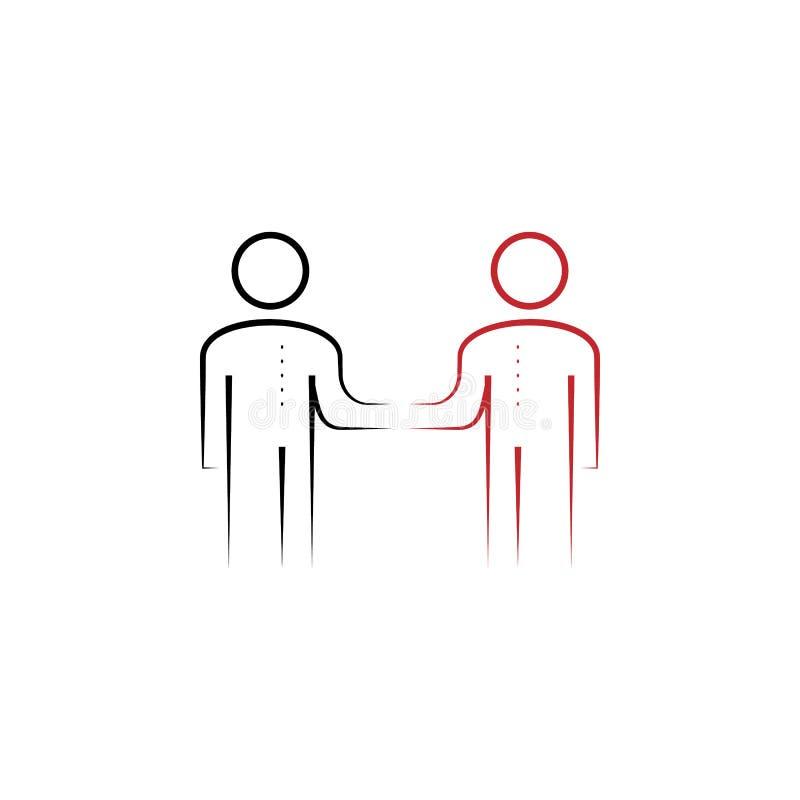 ícone tirado mão colorido da reunião 2 Ilustração do elemento colorido da equipe Projeto do símbolo do esboço do grupo do trabalh ilustração do vetor