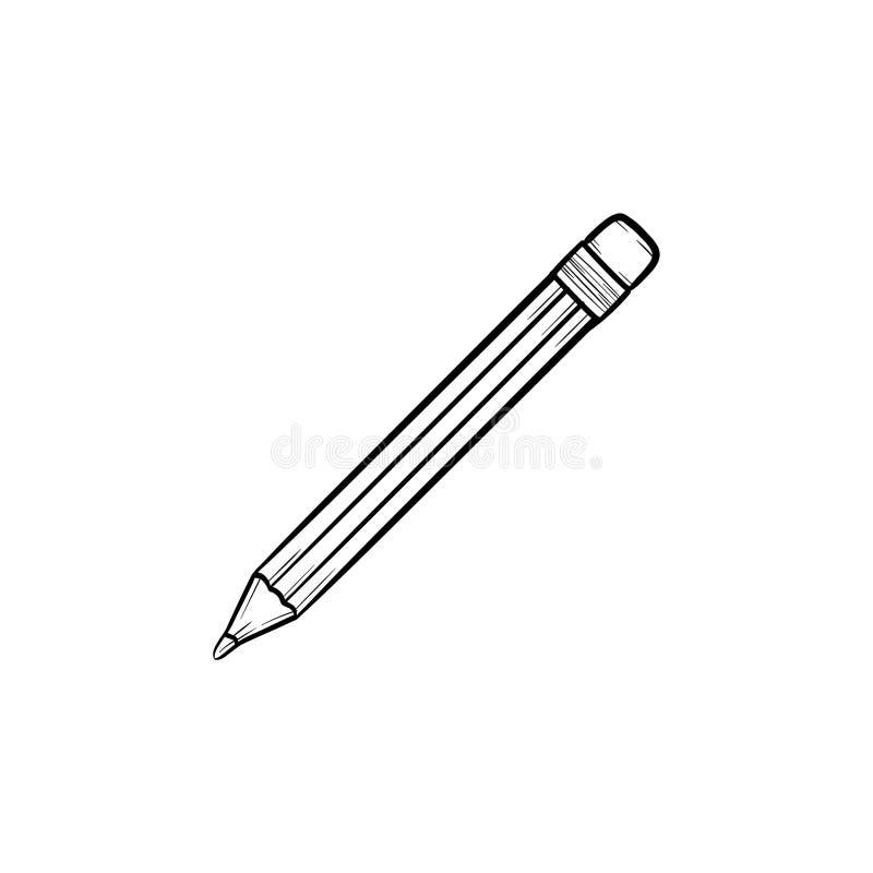 Ícone tirado mão da garatuja do esboço do lápis ilustração stock