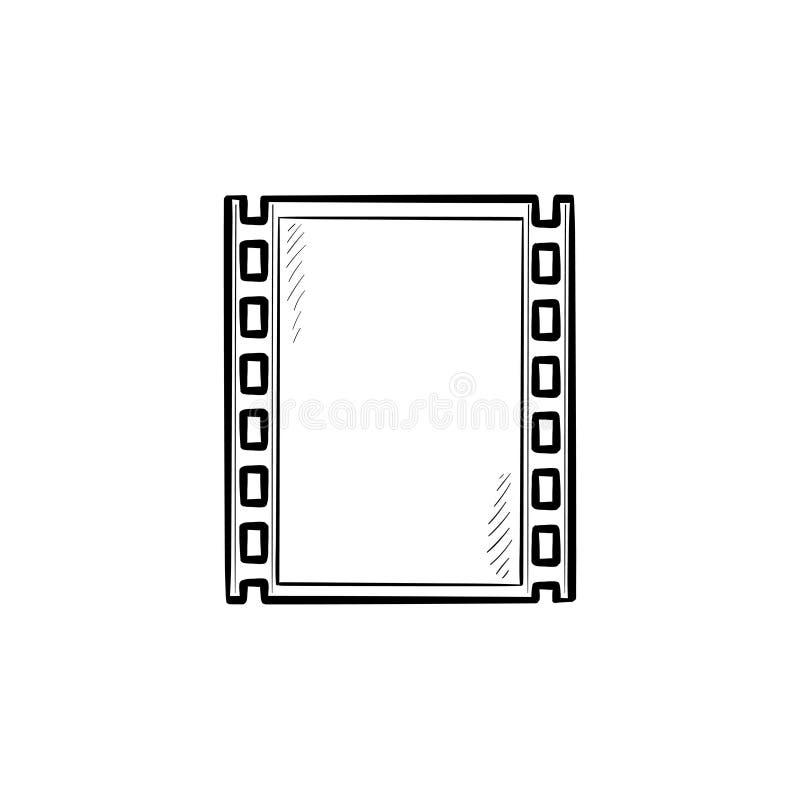 ícone tirado mão da garatuja do esboço da tira do Cinematografia-filme ilustração royalty free
