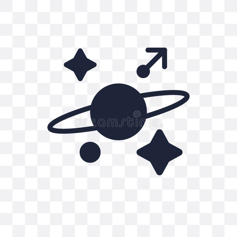 Ícone transparente da astrologia Projeto do símbolo da astrologia de Astrono ilustração stock