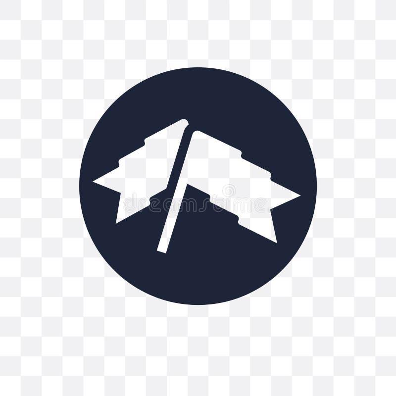 Ícone transparente da bandeira do sucesso Projeto do símbolo da bandeira do sucesso de S ilustração stock