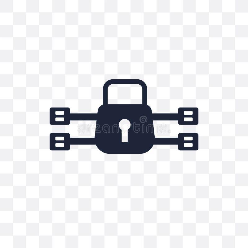ícone transparente da criptografia do tráfego símbolo d da criptografia do tráfego ilustração stock