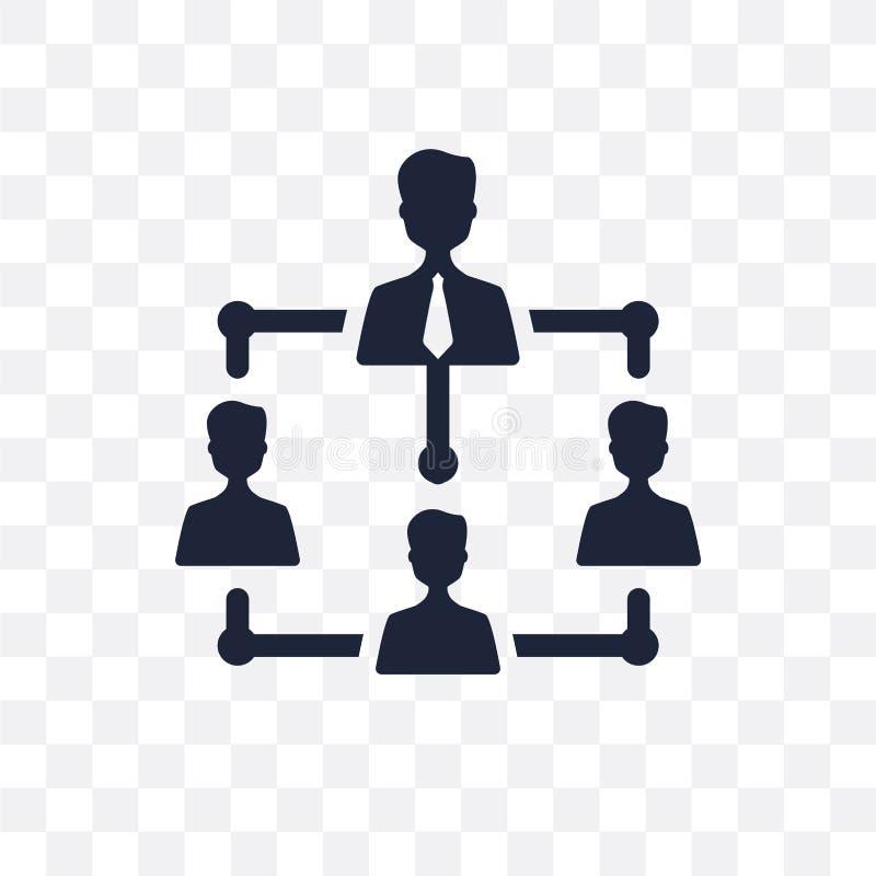 ícone transparente da estrutura da empresa DES do símbolo da estrutura da empresa ilustração do vetor