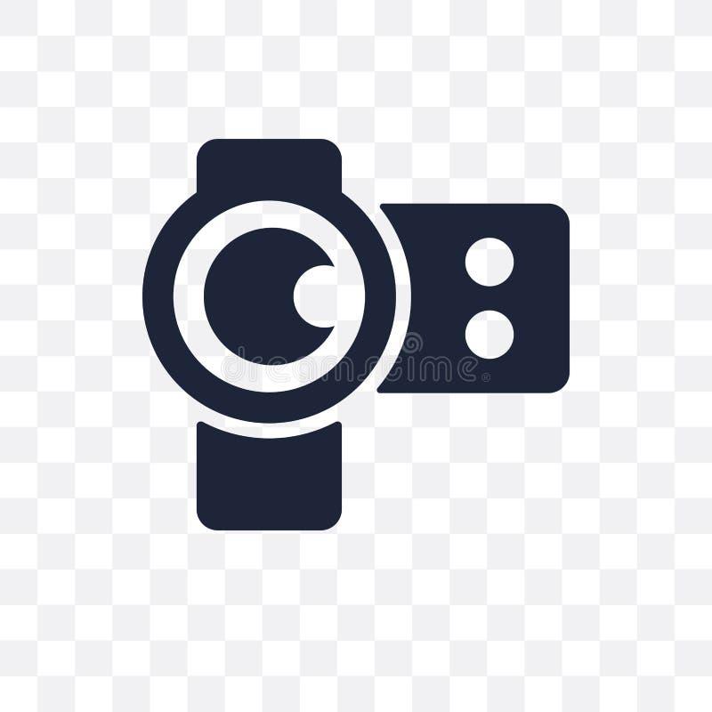 ícone transparente da objetiva projeto do símbolo da objetiva de Cin ilustração royalty free