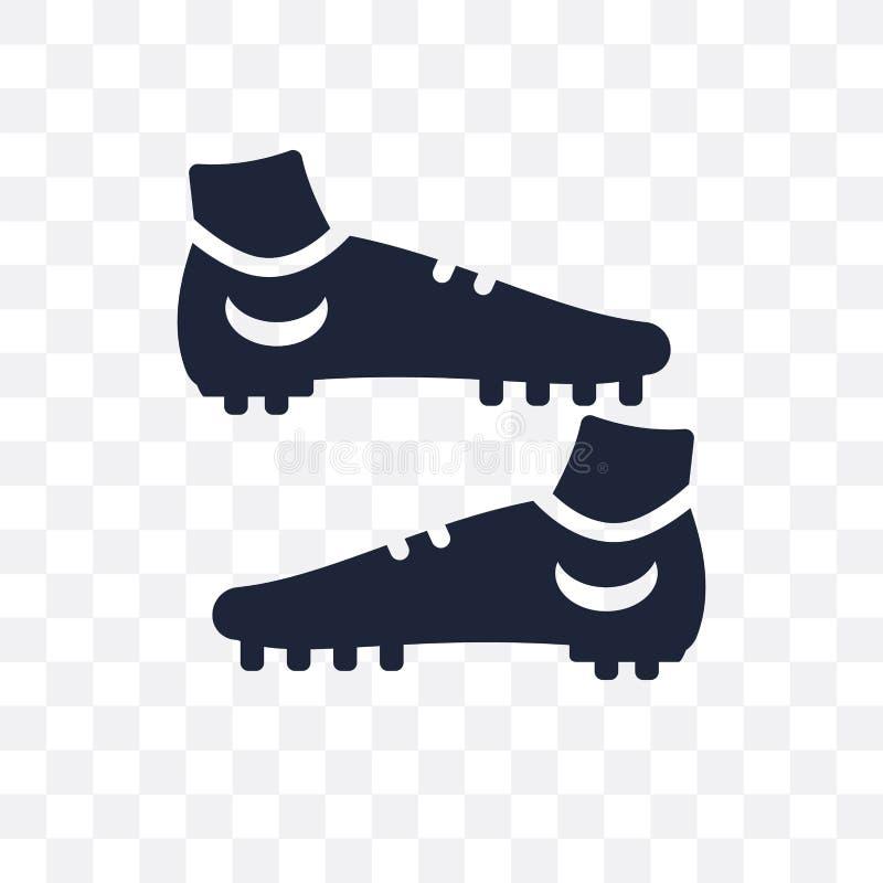 Ícone transparente da sapata do futebol Projeto do símbolo da sapata do futebol dos Clo ilustração do vetor